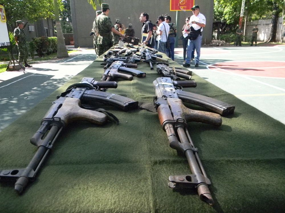 Ejército Mexicano destruye armas decomisadas