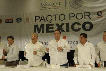 Atestigua el gobernador firma del compromiso de pacto por México