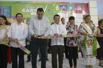 Inaugura Mauricio Góngora la Feria del Carmen 2014