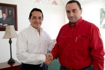 Sostienen cordial encuentro el gobernador roberto borge angulo y el diputado Carlos joaquín gonzález