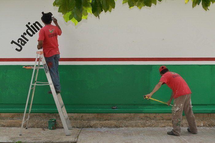 Inicia labores de remozamiento y pintura de los jardines de niños de esta ciudad