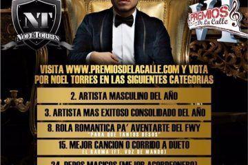 """Noel Torres gana seis nominaciones en """"Premios De La Calle 2014"""""""