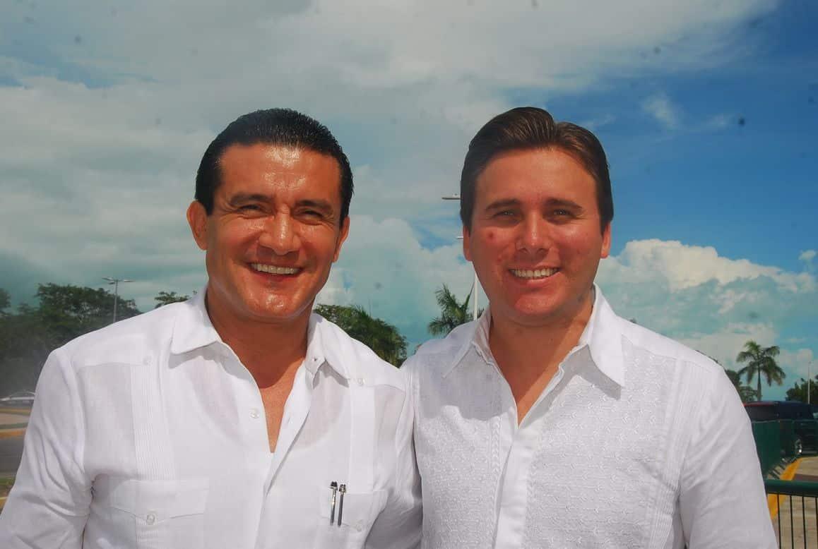 Jorge Manríquez Centeno y Harley Sosa Guillen titular del IEEQROO  de la CDHQROO