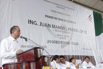 Juan Manuel Parra López, rinde cuentas ante la sociedad morelense