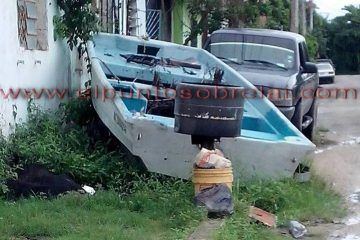 Vecinos toman sus precauciones por la lluvias