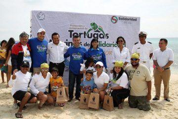 Clausura Mauricio Góngora la temporada 2014 de Protección y Conservación de Tortugas Marinas