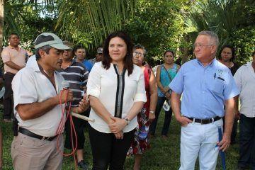 Intensa gira de trabajo de Rosa Adriana Díaz Lizama en Sucilá