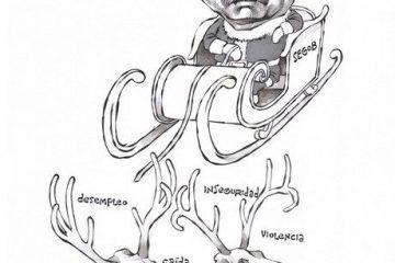 OMAR: Intentando mover a México #caricatura
