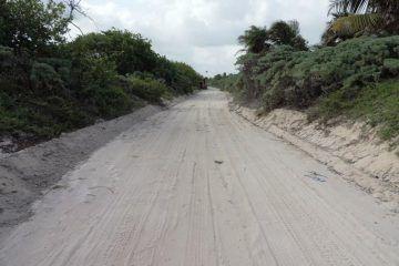 Habitantes de Punta Herrero piden reparación del camino de acceso