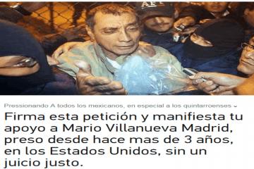 Cientos se suman en apoyo al ex gobernador Mario Villanueva Madrid