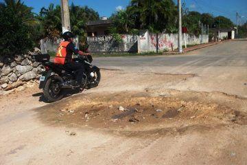 En pésimas condiciones las calles en Kantunilkin