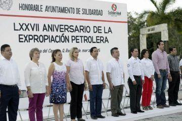 Se conmemora en Solidaridad aniversario de la expropiación petrolera