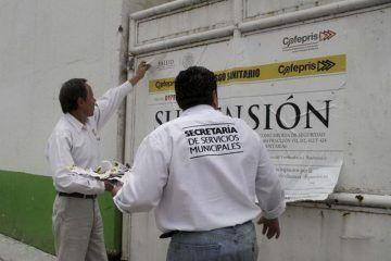 Clausura Cofepris 26 establecimientos en operativo de sanidad