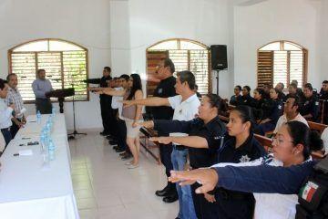 Instalan Consejo de Honor y Justicia de la Policía Municipal de Bacalar