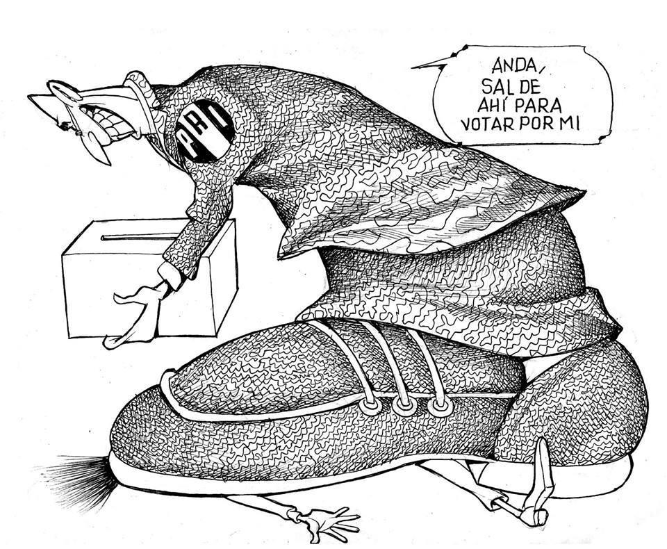 LUY: El peso de la democracia #caricatura