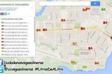 Suma más adeptos la agrupación #CiudadanosVSGasolineras en Chetumal