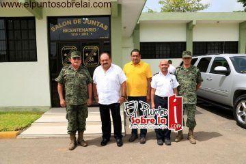 Abuxapqui refuerza coordinación con las fuerzas armadas