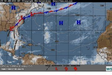 Canal de baja presión en la península de Yucatán ocasionan clima caluroso, nubosidad y lluvias