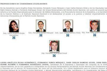 Legisladores federales exigen seguridad y legalidad en las elecciones del 7 de junio