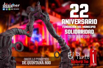 Felicidades a toda la comunidad Solidaridense por su 22 aniversario de haberse creado su municipio