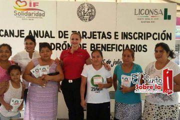 Inicia Liconsa canje de tarjetas y ampliación del padrón en Solidaridad