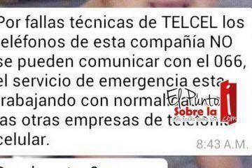Compañías telefónicas dejan sin numero de emergencias a Chetumal