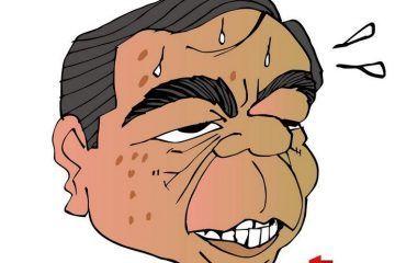 COLINAS: Haciendo su luchita #caricatura
