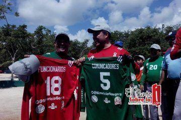 Deporte reúne a Comunicadores de Chetumal y Funcionarios de Solidaridad