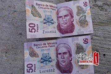 Supuestos billetes falsos generan caos entre chetumaleños