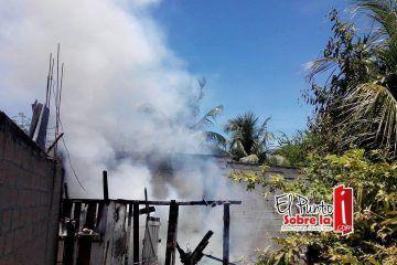 Incendio en la colonia Zazil-Ha