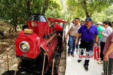 Este domingo inaugurarán tren en el zoológico