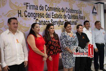 Estrechan lazos de colaboración Congreso y Canaco-Servitur
