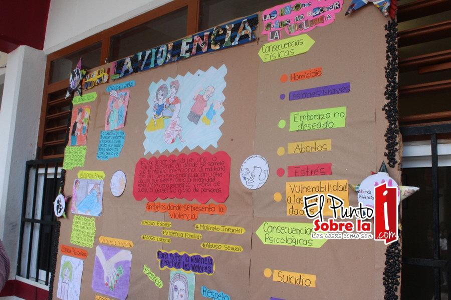 Promueven jornadas de valores c vicos en secundaria de fcp for Como decorar un mural