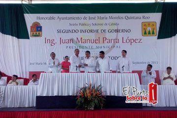 Rinde Juan Manuel Parra López su 2o Informe de Gobierno