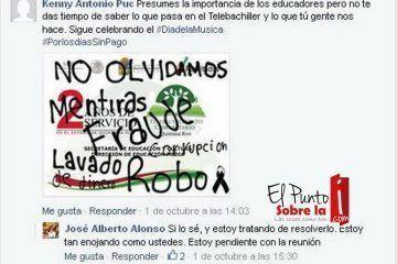 Por arropar la soberbia e incapacidad de Antonio Hoy Manzanilla, la SEyC puede tener problemas en tele-secundarias
