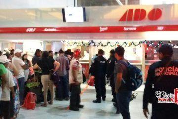 Asaltan terminal ADO en Cancún
