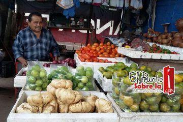 Cae precio de la jícama y naranja dulce
