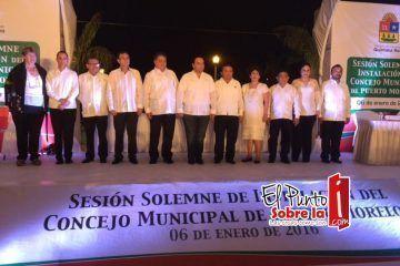 Instalan el Concejo Municipal de Puerto Morelos