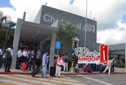Aeropuerto de Chetumal incrementa 15.13% su número de pasajeros