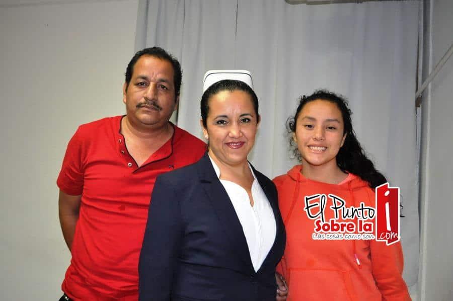 Rosaura Furio Vargas, Lázaro Condanedo y Lizbeth Condanedo Furio.
