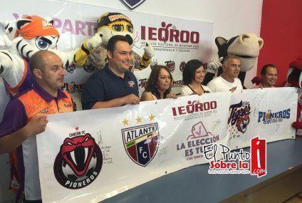 Clubes deportivos quintanarroenses realizan alianza cívica con el IEQROO