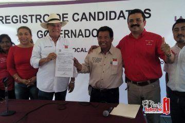 PT registra a su candidato a la gubernatura de Quintana Roo