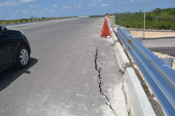 Nuevo puente sucumbe por deficiencias en su construcción