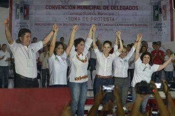 Avalan priistas candidatura de Gina Ruiz para Cozumel
