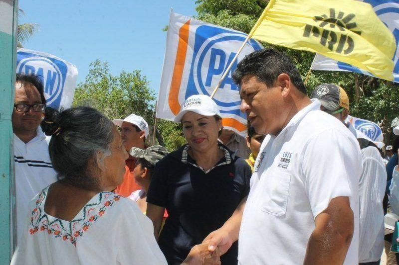 Cierre de campaña en Chetumal de candidatos Pan-Prd a la gubernatura, presidente municipal y diputados