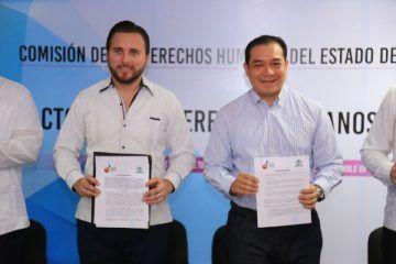 La UQRoo y la CDHQRoo firman el Pacto por los Derechos Humanos