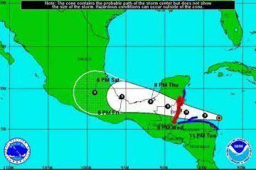 Alerta amarilla Sur y Centro del Estado de Quintana Roo