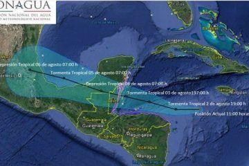 Se forma en el Mar Caribe la tormenta tropical Earl