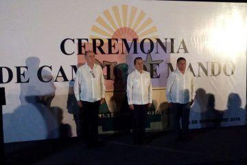 Carlos Joaquín encabeza cambio de mando en la Secretaría de Seguridad Pública