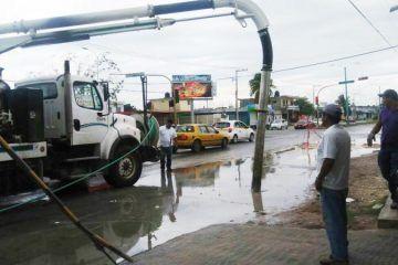 Acción inmediata de Capa en la ruptura de una tubería de aguas residuales